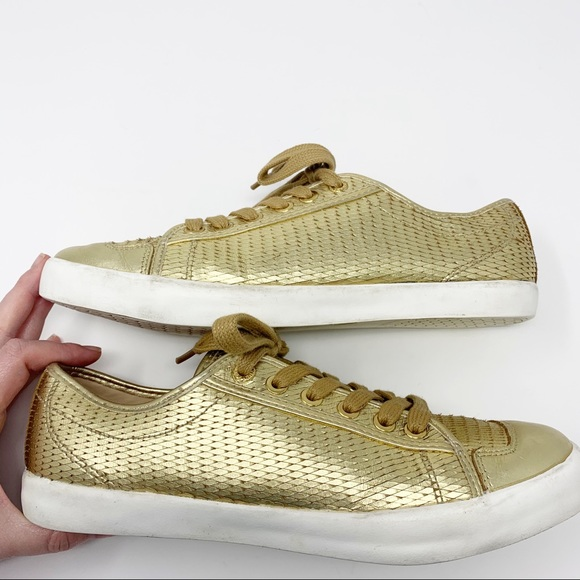Black and Gold Dragon Scales Men/'s Sneakers
